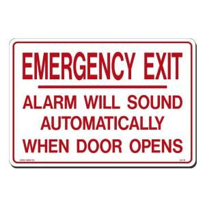 Lynch Sign 14 in. x 10 in. Red on White Plastic Emergency Exit Sign ES 19