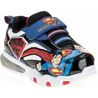 Toddler Boys Superman Light Up Athletic Sneaker Baby Clothing