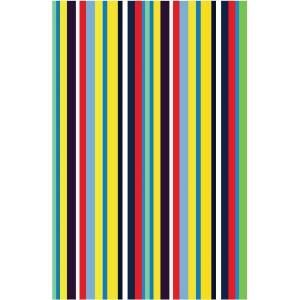 LA Rug Inc. Fun Time Stripemania Multi Colored 19 in. x 29 in. Area Rug FT 106 1929