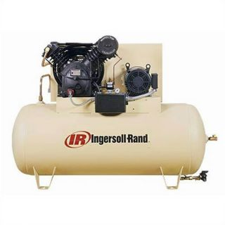 Ingersoll Rand 120 Gallon 175 PSI, 50 CFM, 15 HP Fully Packaged Two Stage Horizontal Air Compressor Tools