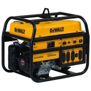 DEWALT 6,000 Watt Gasoline Powered Portable Generator with Honda Engine Manual Start DXGN6000