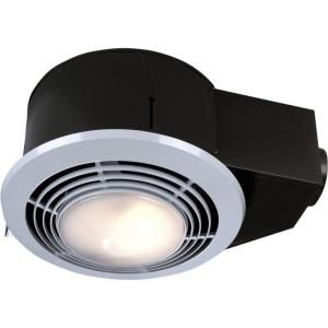 NuTone 100 CFM Ceiling Exhaust Fan with Light and Heater QT9093WH