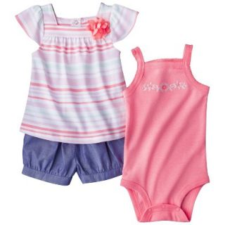 Just One YouMade by Carters Girls 3 Piece Bodysuit, Shirt and Short Set