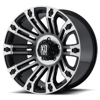 XD XD810 20 Machined Black Wheel / Rim 5x5 with a  24mm Offset and a 78.3 Hub Bore. Partnumber XD81021050324N: Automotive