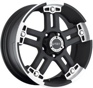 V Tec Warlord 22 Black Wheel / Rim 8x6.5 with a 18mm Offset and a 125.2 Hub Bore. Partnumber 394 22981MF18: Automotive