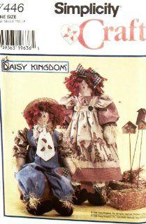 """OOP Simplicity Pattern 7446. 24"""" Scarecrow Dolls. Boy Rag Doll & Girl Rag Doll & Their Dolls"""