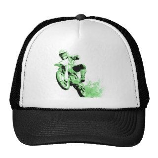 Dirt Bike Wheeling in Mud (Green) Trucker Hat