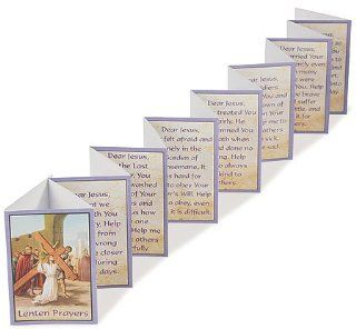 "Devotional Religious Gift Holy Week Lenten Prayers 3 3/8"" Accordion Folded Booklet : Prints : Everything Else"