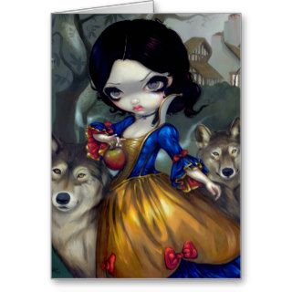 """Loup Garou: Blanche Neige"" Greeting Card"