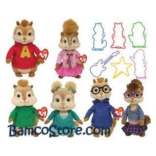 Alvin and The Chipmunks Squeakquel TY beanies plush toy: Toys & Games