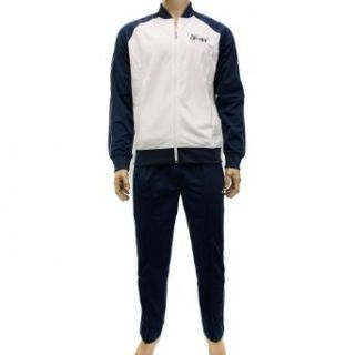 Nike Mens White/Navy 436749 Full Tracksuit Size L  Athletic Tracksuits  Sports & Outdoors
