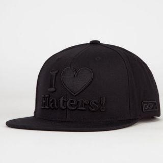 Haters Mens Snapback Hat Black One Size For Men 217839100