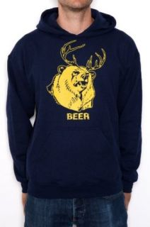Beer Bear+Deer Mac Adult Sweatshirt Hoodie: Clothing