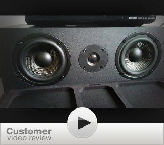 Micca MB42X C Center Channel Speaker With Dual 4 Inch Carbon Fiber Woofer and Silk Dome Tweeter (Black, Each) Electronics