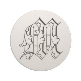 Old English Letter M Coaster