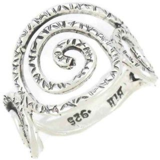 Silver Jewelry, 925 Sterling Silver Ring. Custom Hand Made and Designed in Israel By Bili Silver. Antiquated Hammered Scroll Design. Shipped Directly From Tel Aviv Israel in a Gift Box. Great Gift For Wedding Bridesmaid Bat Mitzvah Engagement Graduation M