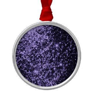 ROYAL PURPLE BLACK  SPARKLE GLITTER BACKGROUND PAR CHRISTMAS ORNAMENTS