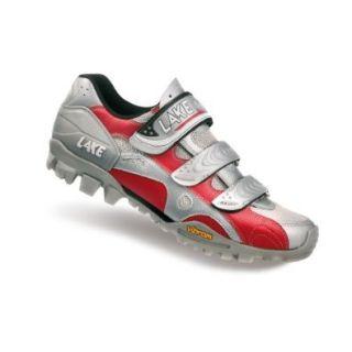 Lake MX 165 070033, Unisex   Erwachsene Sportschuhe   Radsport, silber, (Silver/Red 0), EU 40, (US 6,5): Schuhe & Handtaschen