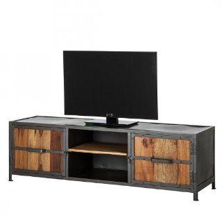 Lowboard Camden Old Wood/Eisen   165 cm   Fernsehtisch TV Rack Regal Board Fernsehregal Home24 NEU: Küche & Haushalt