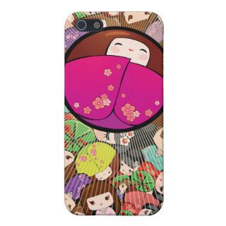 Funky Japanese Kokeshi Dolls Iphone Case Case For iPhone 5