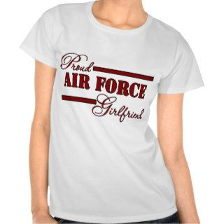 Proud Air Force Girlfriend (Red N Black) T shirts
