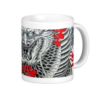 Cool Japanese Dragon Tattoo Art Mugs