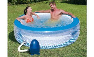 Bestway 51109B   Whirlpool 196 x 53 cm   Bubble Play Pool, GS 220 V: Garten