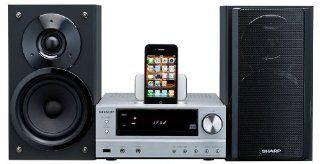 Sharp XLHF201PHS HiFi Kompaktanlage (CD//WMA Player, UKW Tuner, 100 Watt, 2 Wege, Apple iPod Dock, USB) silber Heimkino, TV & Video