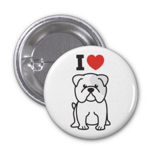 Bulldog Dog Cartoon Pin
