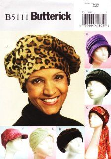 BUTTERICK B5111 HAT PATTERN ~ BERET, TURBAN, CAP AND HAT : Other Products : Everything Else
