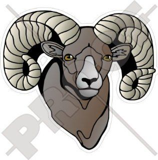 "BIGHORN Sheep RAM Wildlife ARIES 5"" (125mm) Vinyl Bumper Sticker, Decal : Other Products : Everything Else"