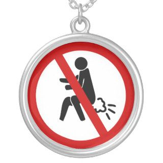 NO Farting ⚠ Funny Thai Toilet Sign ⚠ Custom Necklace