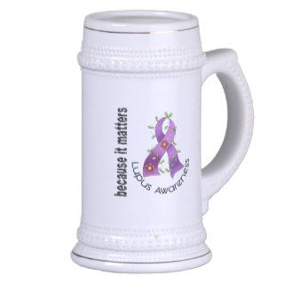 Lupus Flower Ribbon 3 Mugs