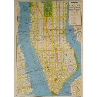 New York House Number &Transit Guide Cavallini Gift Wrap or Decoupage paper, vintage look poster etc, One