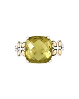 Batu Kawung Olive Quartz Ring, Size 7