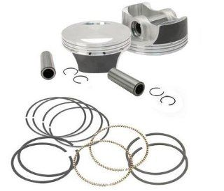 S&S Cycle Forged Piston Kit for 106ci. Cylinder Kit   Standard Bore 3.927in.   .010in. Oversized 106 4416 Automotive