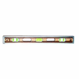 Bon 21 113 48 Inch Smith Walnut and Maple Level with Stainless Steel Rails, Green Vials   Multi Function Power Tools