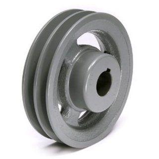 SPC 140X2 CI Ametric� Metric Cast Iron V Belt Pulley, For SPC Profile V Belt, 2 Groove, 140 mm Pitch Diameter, (Mfg Code 1 033) Industrial & Scientific