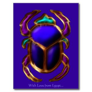 EGYPTIAN SCARAB BEETLE Collection Postcard