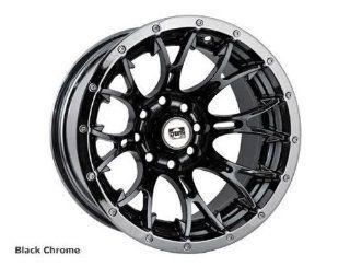 DWT Racing Diablo Wheels. Size 12x7, 2+5 Offset, 4/156 Bolt Pattern. Black Chrome. 557837 Automotive