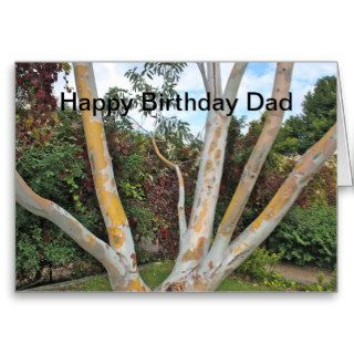 Tree Branches Happy Birthday Dad Card