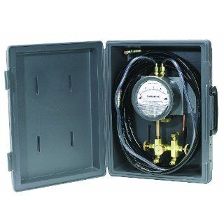 Dwyer Model A 471 Portable Kit Includes Plastic Case for Series 4000 Capsuhelic Differential Pressure Gauge, Mounting Bracket, A 309 3 Way Manifold Valve, (2) A 230 High Pressure Hoses And All Necessary Fittings: Industrial Pressure Gauges: Industrial &amp