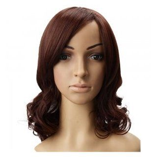OnceAll Stylish Lady's Medium Curled Hair Wig Light Reddish Brown JCJ 253  Hair Replacement Wigs  Beauty