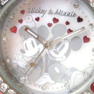 RARE DISNEY MICKEY AND MINNE RED PAINT WRIST WATCH IGN Watches