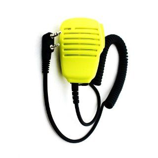 Tenq NEW Yellow Two Way Radio Speaker Mic for Baofeng Uv 5r Uv 3r+ Puxing Wouxun Kenwood  Two Way Radio Headsets