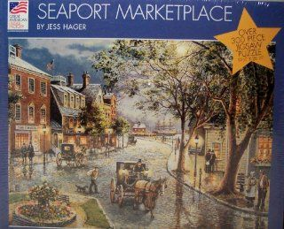Great American Puzzle Factory; Seaport Marketplace Over 300 Piece Jigsaw Puzzle Toys & Games