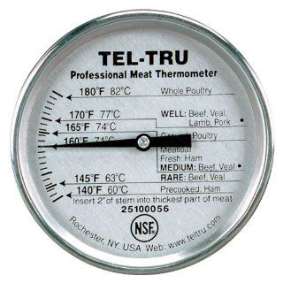 Tel Tru RM275R Meat Cooking Thermometer, 2 inch dial, 5 inch stem, 140/180 degrees F Kitchen & Dining