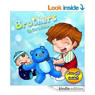 """Children Books """"Brothers"""" (New Baby & Friendship) (Bedtime Stories) Children's Books for kids ages 2 4 (Children's Books Collection for Early / Beginner Readers Book 1)   Kindle edition by Maria Alony, Emily Zieroth, Devora Liss. Chi"""