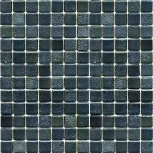 EPOCH Metalz Textured Tungsten 1009 Mosiac Recycled Glass Mesh Mounted Floor and Wall Tile   3 in. x 3 in. Tile Sample TEXTURED TUNGSTEN SAMPLE