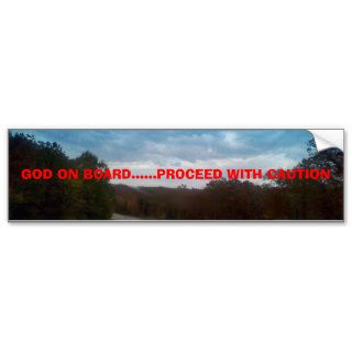 GOD ON BOARD Inspirational Christian Quotes Bumper Sticker